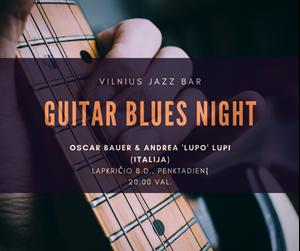 Picture of Lapkričio 8 d. - Guitar Blues Night | Oscar Bauer & Andrea Lupi (Italija)